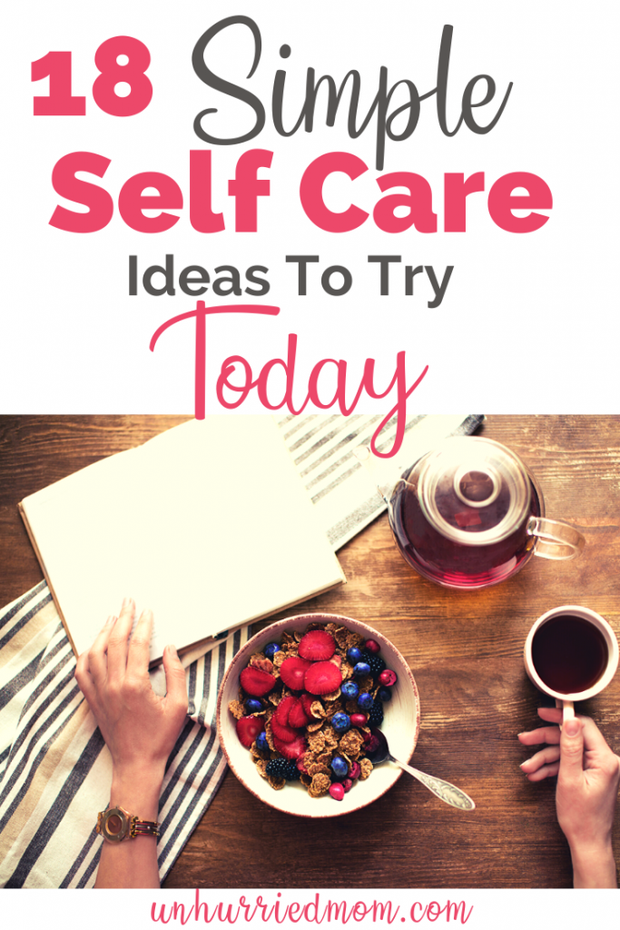 Self Care Ideas for Moms