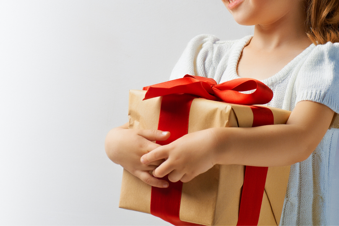 Teaching children to be thankful for gifts