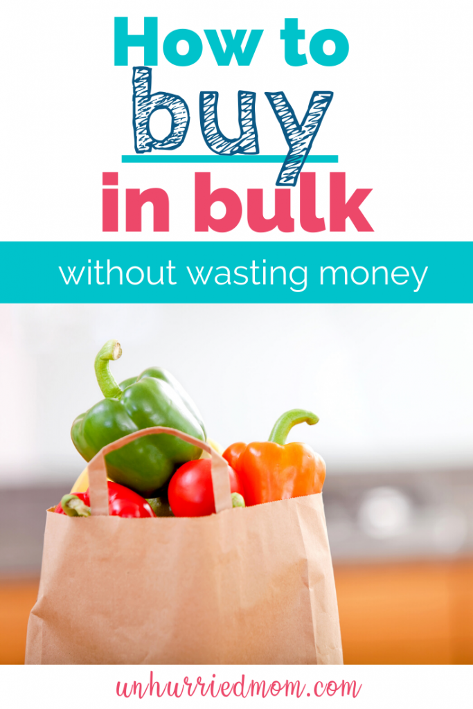 How to buy in bulk without waste