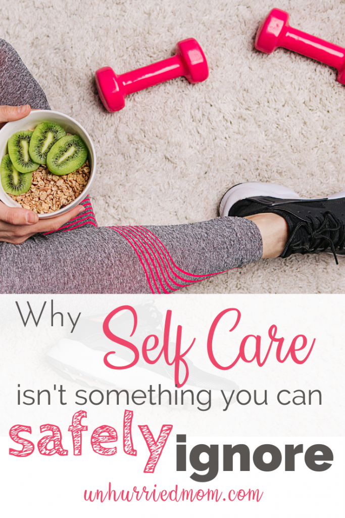 self care for mom - exercise and eat healthy