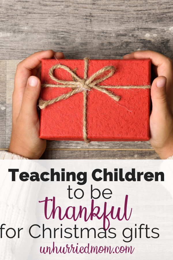 teaching children to be grateful for gifts