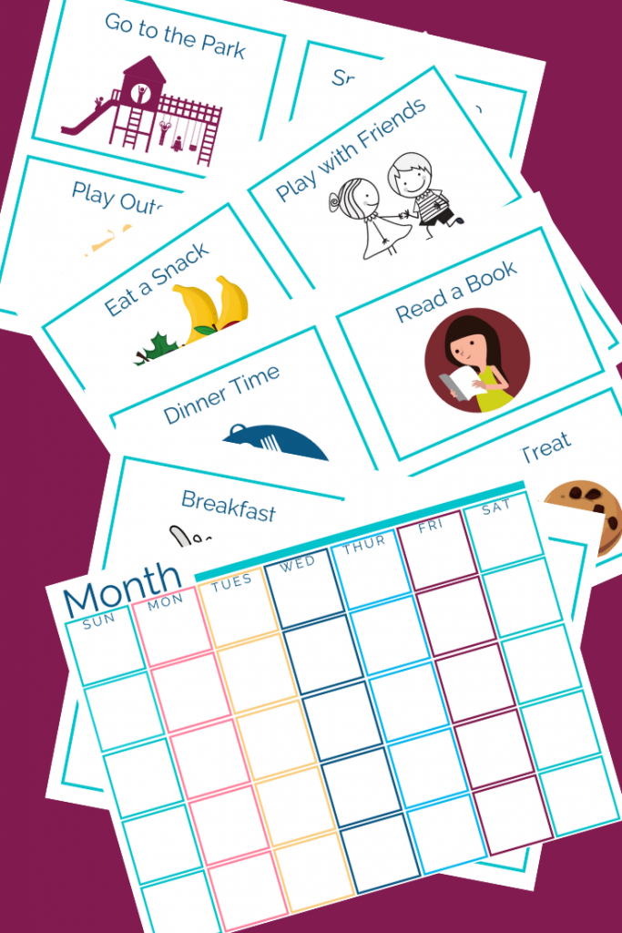 real life mom tips to make days go smoother: visual schedule cards