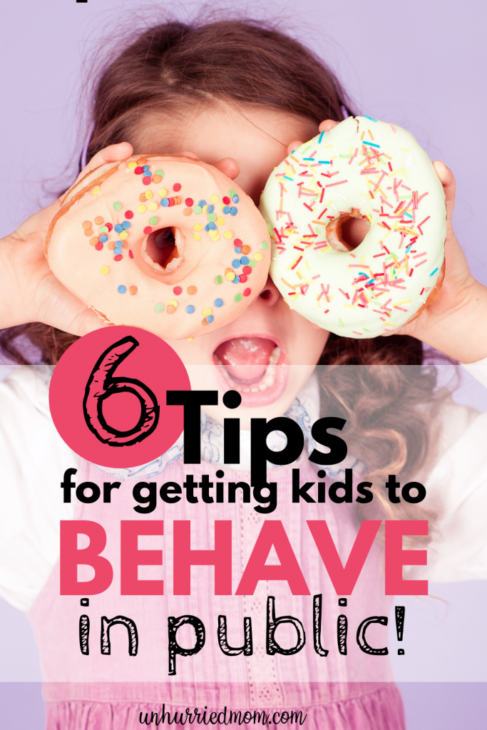 Tips for getting kids to behave in public
