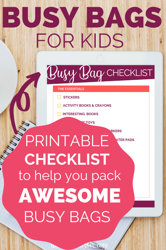 Busy Bags for Kids Checklist