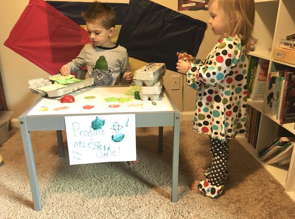 rainy day activities - pretend play