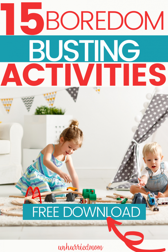 Boredom busters - rainy day activities