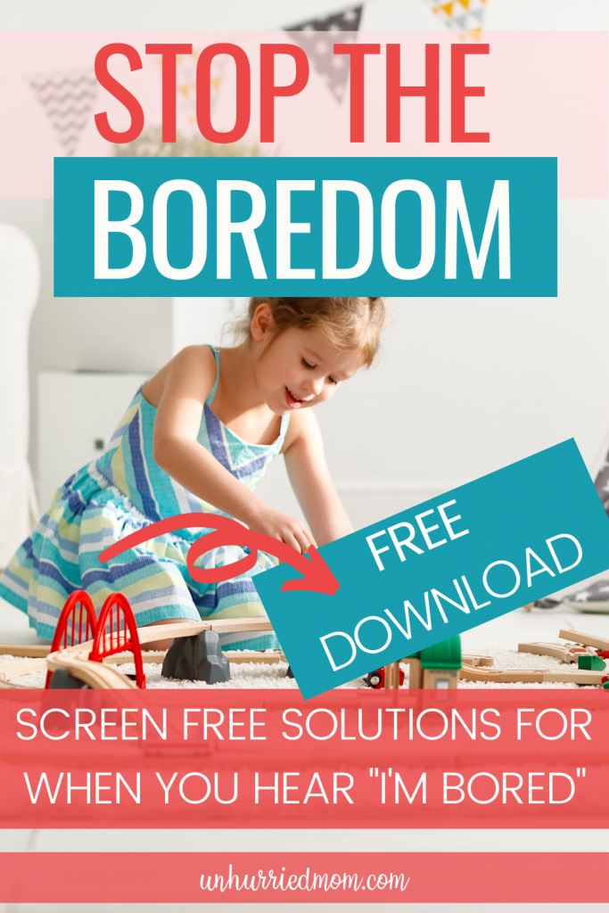 Boredom Busting Activities - educational resources