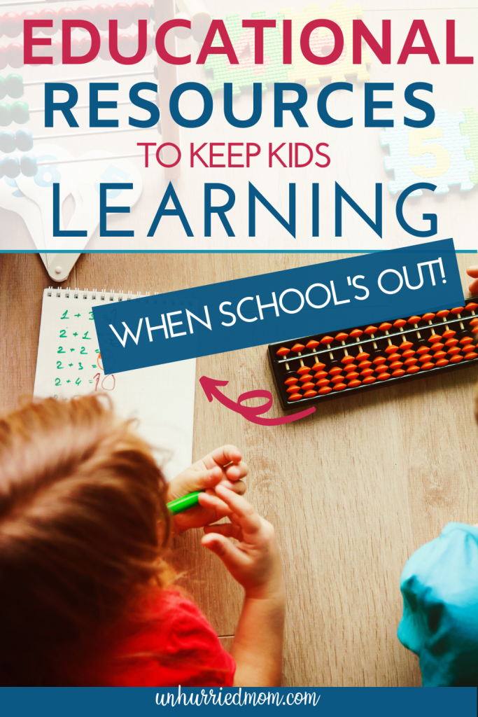 Educational Resources to Keep Kids Learning
