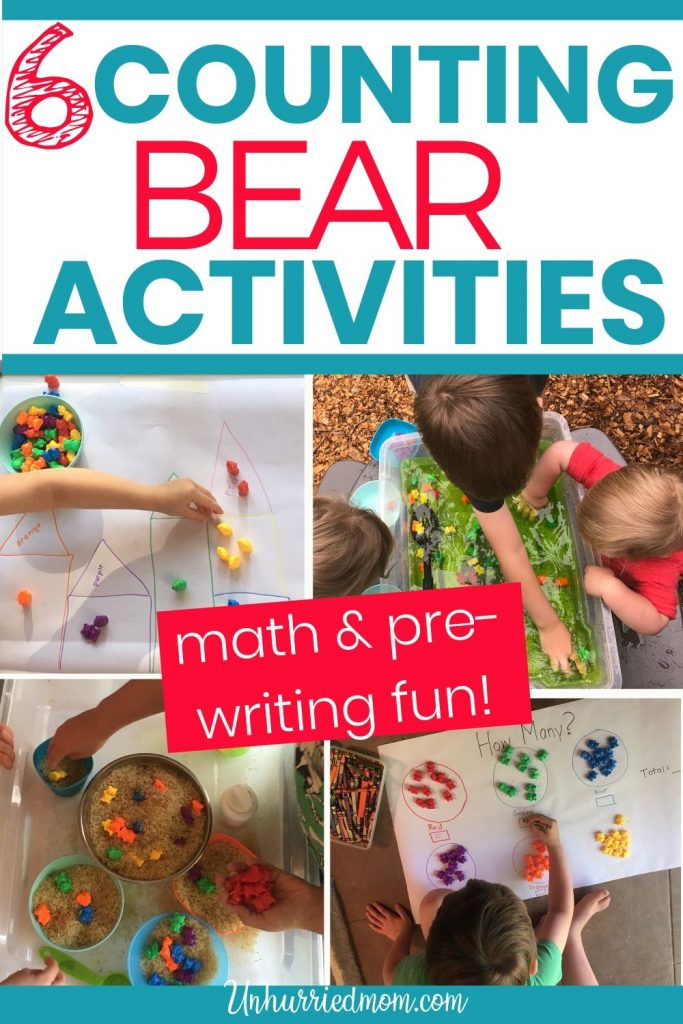 Fun activities for kids: Counting Bears